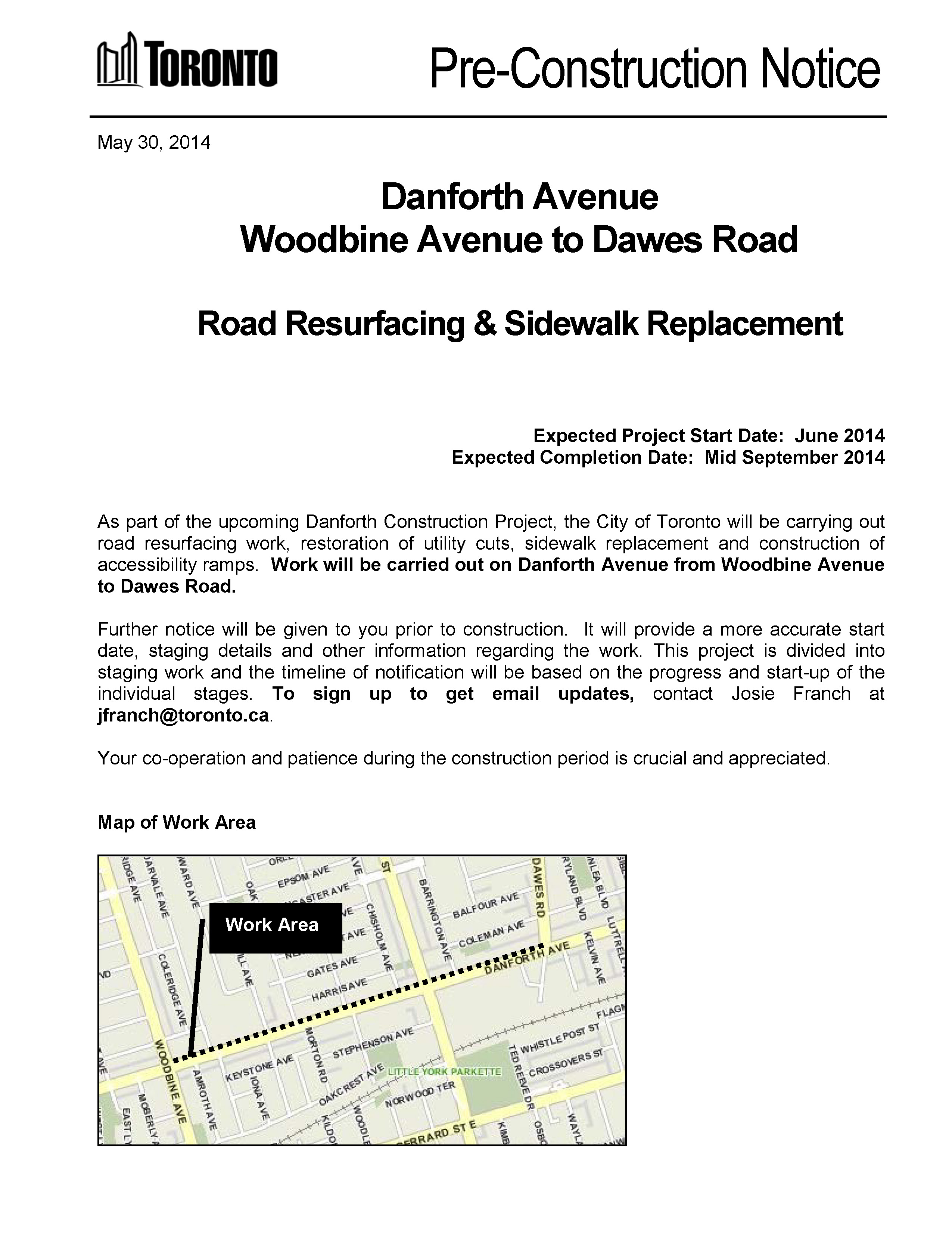 Pre-Construction Notice Woodbine Avenue to Dawes Road_Page_1